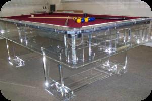 Clear Acrylic Pool Table