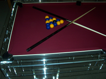 Clear Acrylic Pool Table - Clear pool table